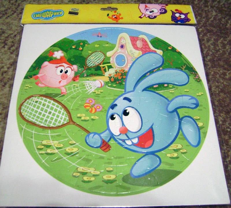 "Иллюстрация 1 из 4 для Мягкий пазл - 44 элемента. ""Смешарики"" Спорт (04120)   Лабиринт - игрушки. Источник: Batterfly"