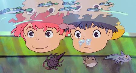 Иллюстрация 1 из 6 для Рыбка Поньо на утесе (DVD) - Хаяо Миядзаки | Лабиринт - видео. Источник: Perun