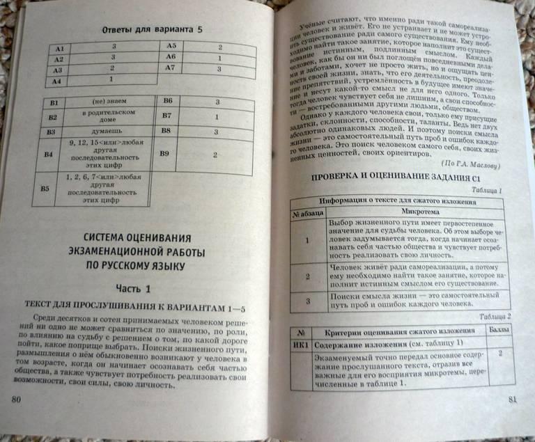 огэ русскому класс 9 по цыбулько решебник