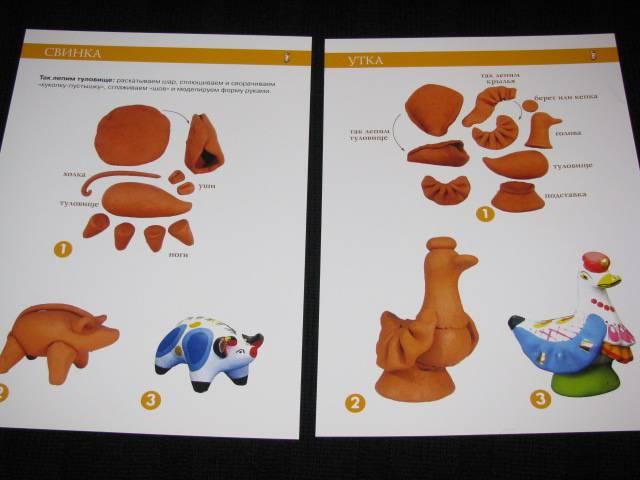 Как сделать дымковские игрушки из пластилина