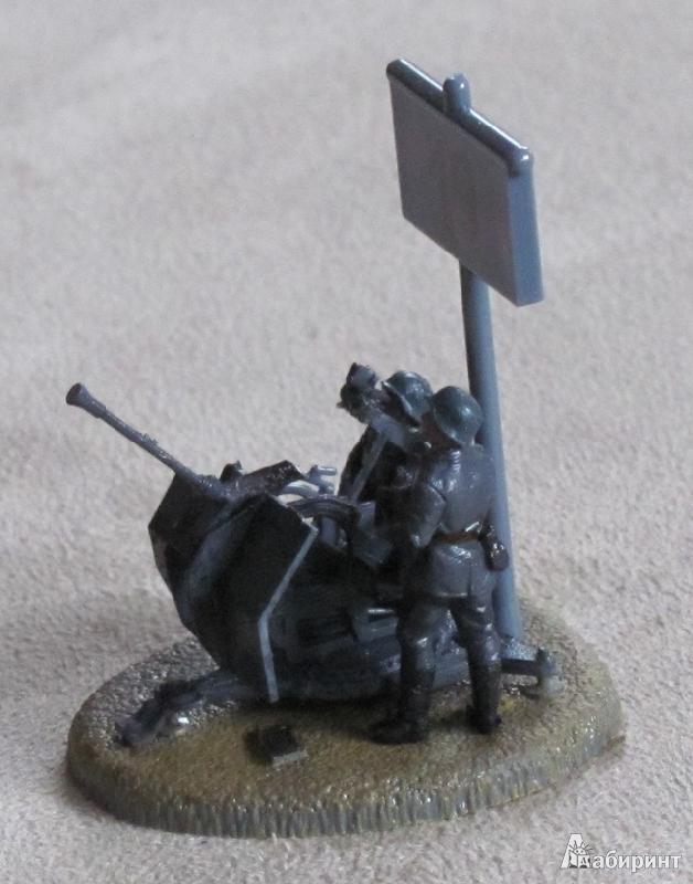 Иллюстрация 1 из 8 для Немецкое 20-мм зенитное орудие FLAK-38 с расчетом (6117)   Лабиринт - игрушки. Источник: Захарова  Галина