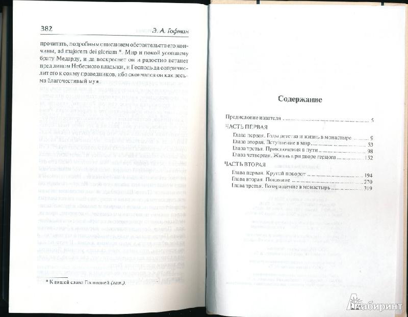 Краткое Содержание Эликсиры Сатаны Гофман