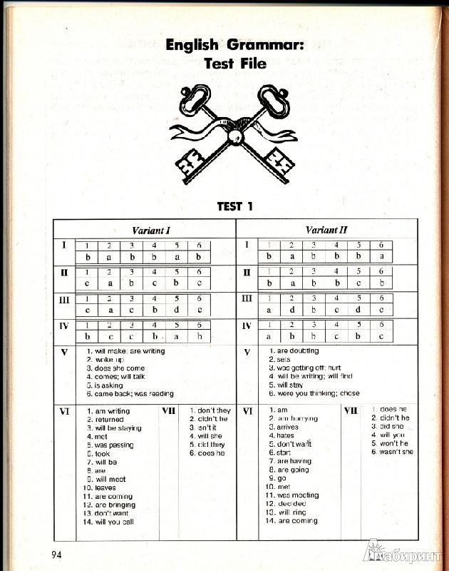 Ответы к учебнику English Grammar Дроздовой