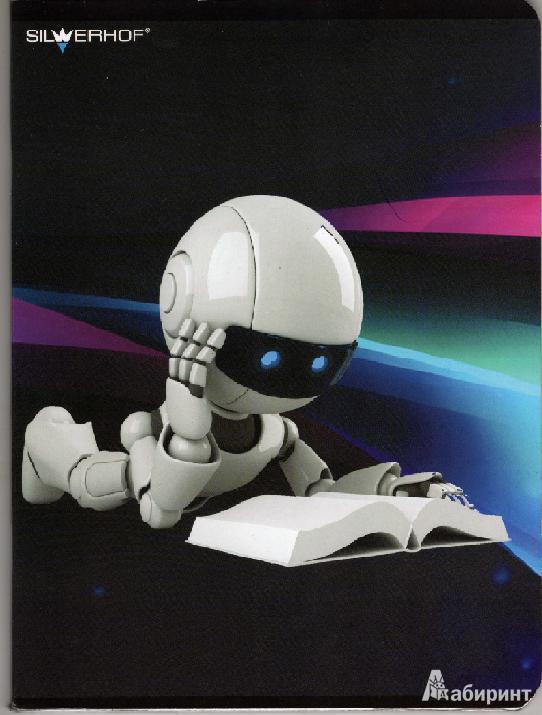 """Иллюстрация 1 из 3 для Тетрадь """"Роботы"""" 48 листов, клетка, А5 (811209-55)   Лабиринт - канцтовы. Источник: Queen_of_spain"""
