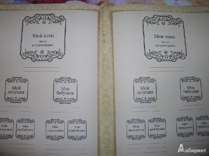 Родословная книга своими руками оформление
