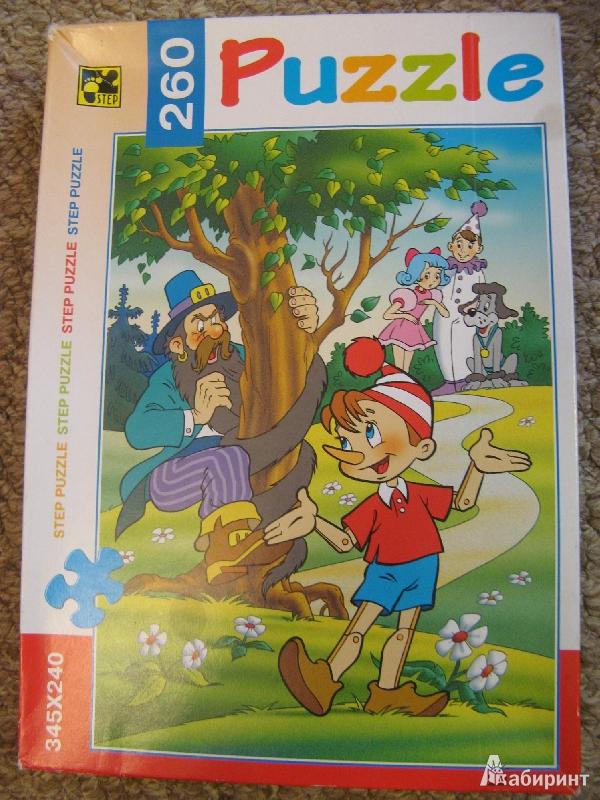 Иллюстрация 1 из 7 для Step Puzzle-260 74015 Буратино | Лабиринт - игрушки. Источник: bulochka