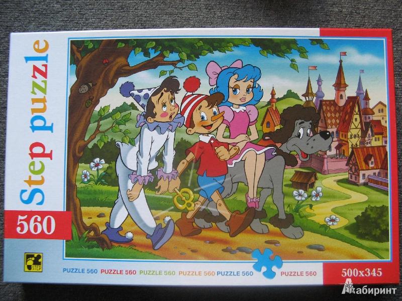 Иллюстрация 1 из 6 для Step Puzzle-560 78037 Буратино | Лабиринт - игрушки. Источник: bulochka