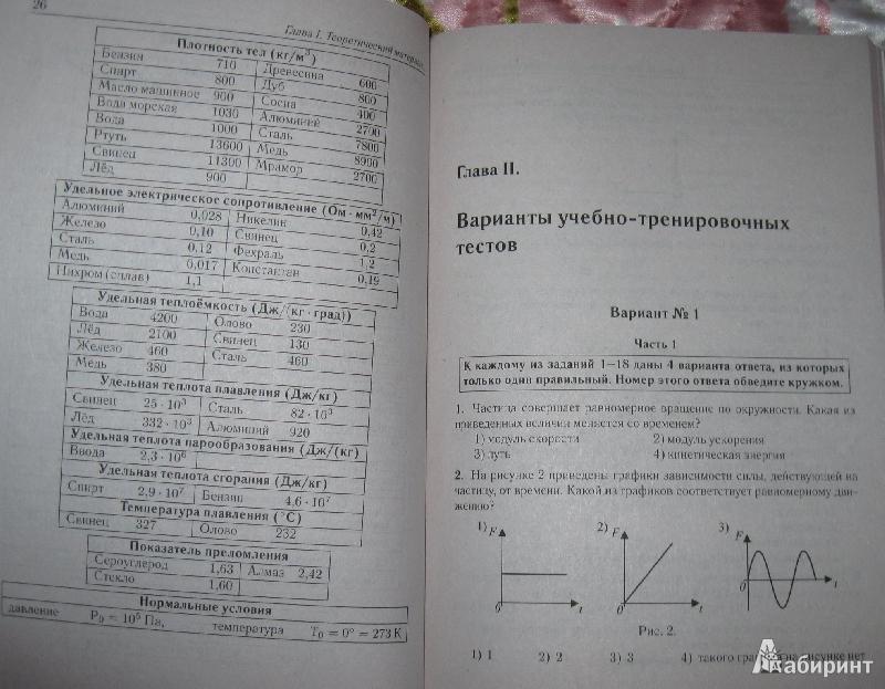 Марон по физике 10 класс решебник