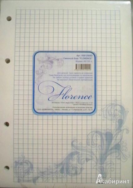 """Иллюстрация 1 из 3 для Сменный блок """"Florence"""", А5, 100 листов, клетка (цвет в ассортименте)   Лабиринт - канцтовы. Источник: Левина  Светлана"""