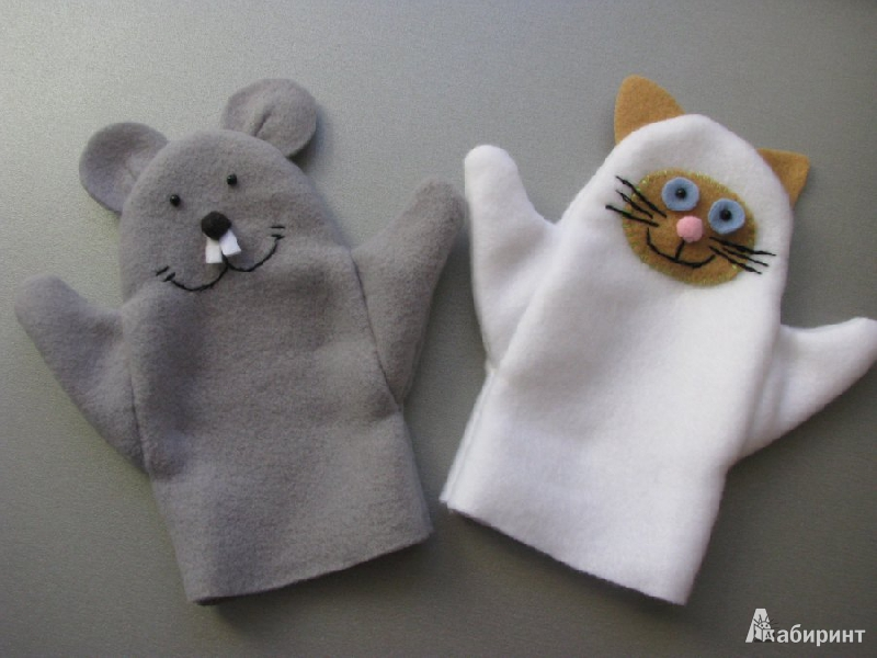"""Иллюстрация 7 из 7 для Кукла-рукавичка """"Кошка и мышка"""" (Рк-080) Лабиринт - игрушки. Источник: Мухина Лариса"""