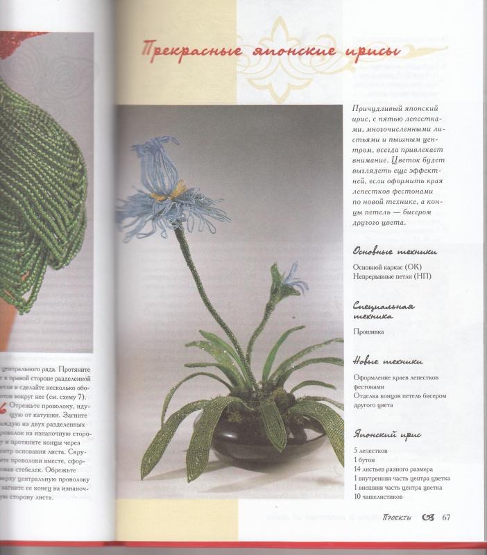 """Иллюстрация 3 к книге  """"Цветы, букеты и композиции из бисера.  30 проектов """", фотография, изображение, картинка."""