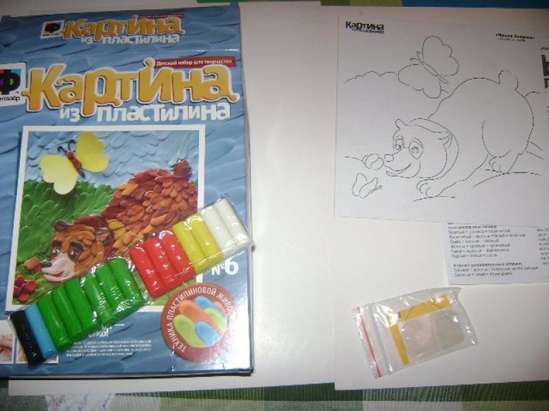 "Иллюстрация 1 из 6 для Картина из пластилина ""Мишка-Лакомка"" (447006) | Лабиринт - игрушки. Источник: Lunna"