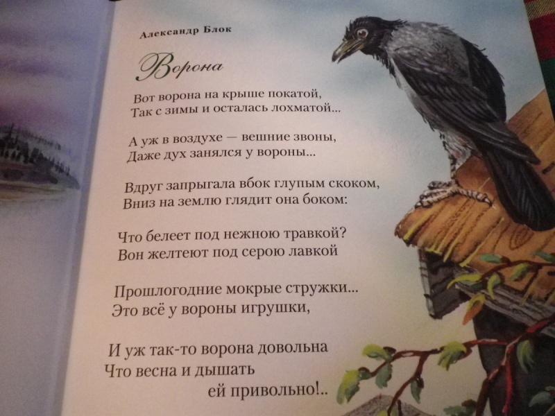 Читать стих ворон по
