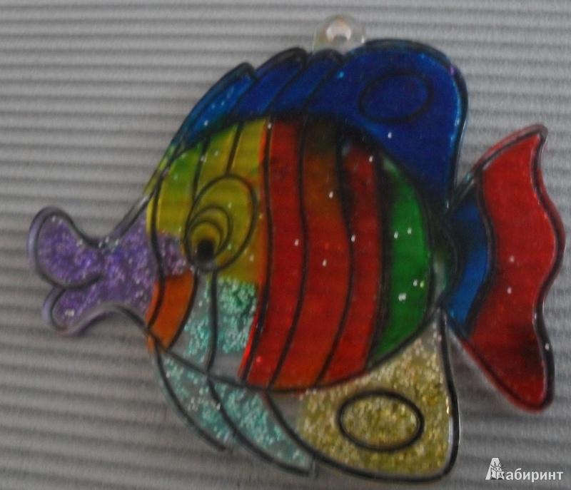 Иллюстрация 1 из 7 для Витраж малый: Рыба | Лабиринт - игрушки. Источник: Перминова  Татьяна Сергеевна