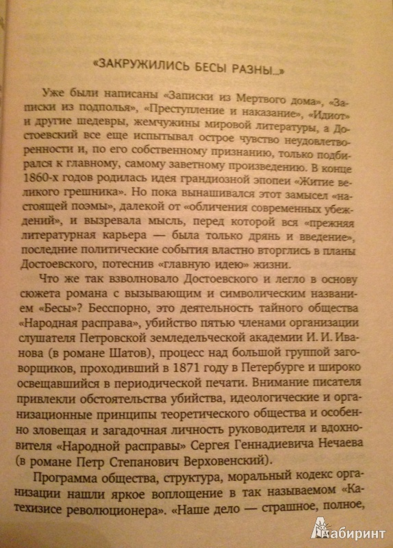 Иллюстрация 1 из 3 для Бесы - Федор Достоевский | Лабиринт - книги. Источник: koshkabelka
