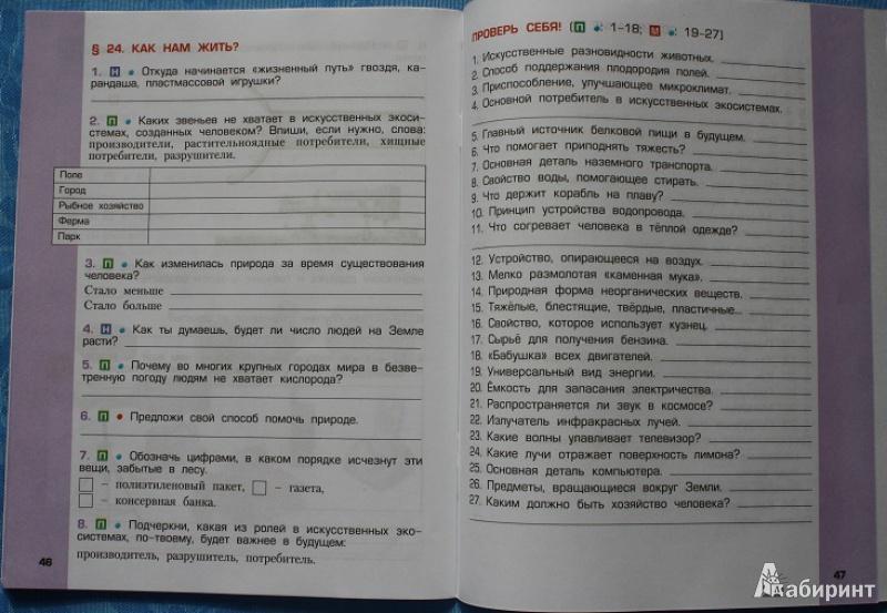 методичка на рабочую тетрадь по окружающему 4 класс вахрушев