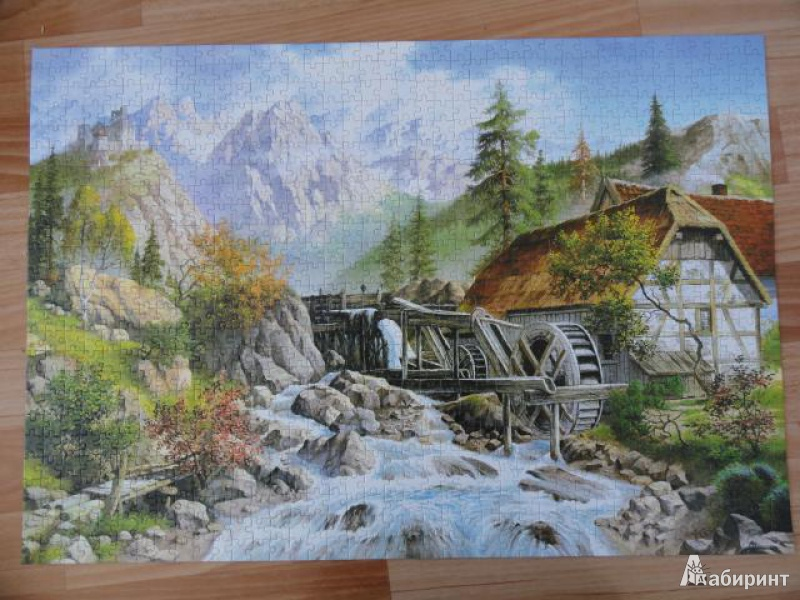 Иллюстрация 1 из 14 для Puzzle-1000. Домик в горах (С-101634) | Лабиринт - игрушки. Источник: Филипова  Ася