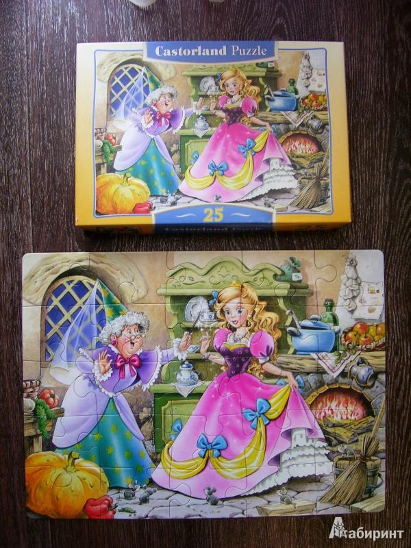 Иллюстрация 1 из 11 для Puzzle-25. Золушка (В-25046) | Лабиринт - игрушки. Источник: Дашенька Клименченко