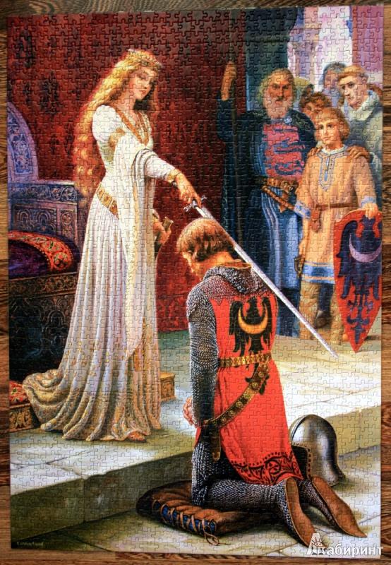 Иллюстрация 1 из 14 для Puzzle-1500. Посвящение в рыцари (С-150656) | Лабиринт - игрушки. Источник: Иванова  Анна