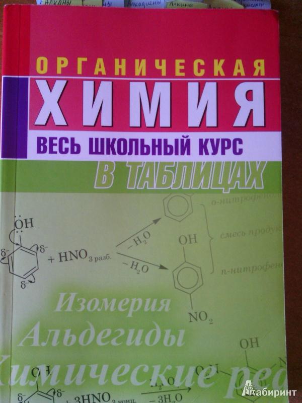 Иллюстрация 1 из 10 для Органическая химия. Весь школьный курс в таблицах | Лабиринт - книги. Источник: niktru