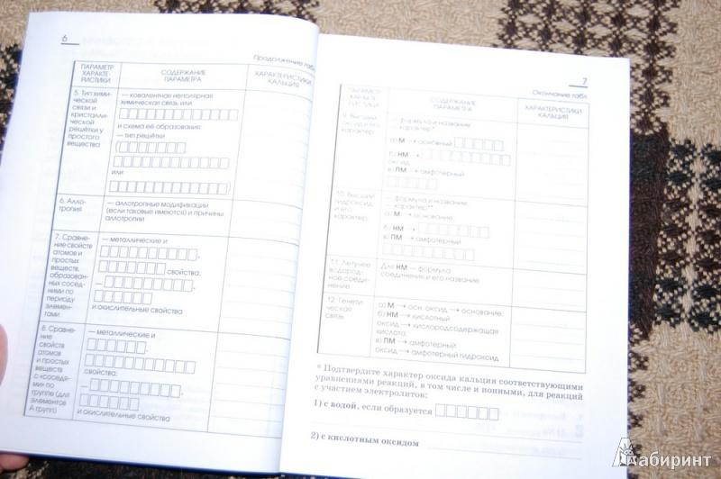 Из 21 для химия 9 класс рабочая тетрадь