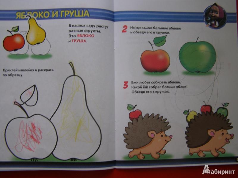 Иллюстрация 1 из 16 для Овощи. Фрукты. Ягоды. Маша и Медведь. 2-3 года | Лабиринт - книги. Источник: Алена