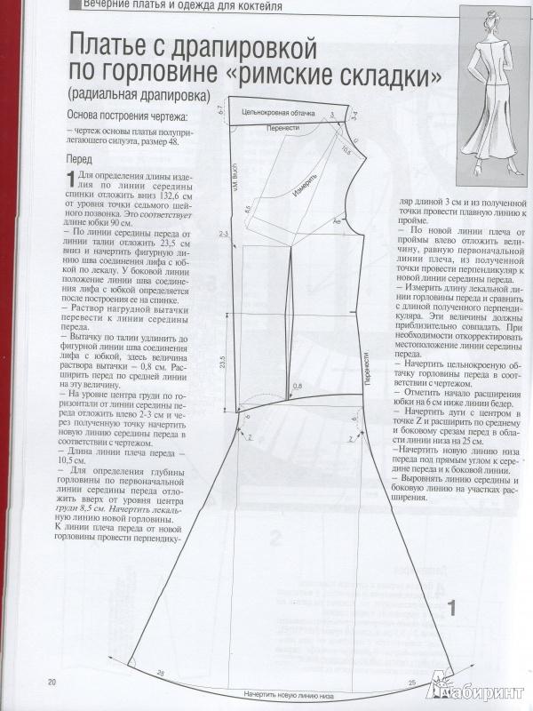 Подробное описание выкроек платья