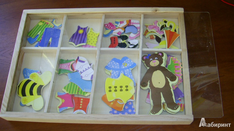 Иллюстрация 1 из 5 для Магнитная игра «Одеваем медвежонка» (TZ 10394) | Лабиринт - игрушки. Источник: lanaxen