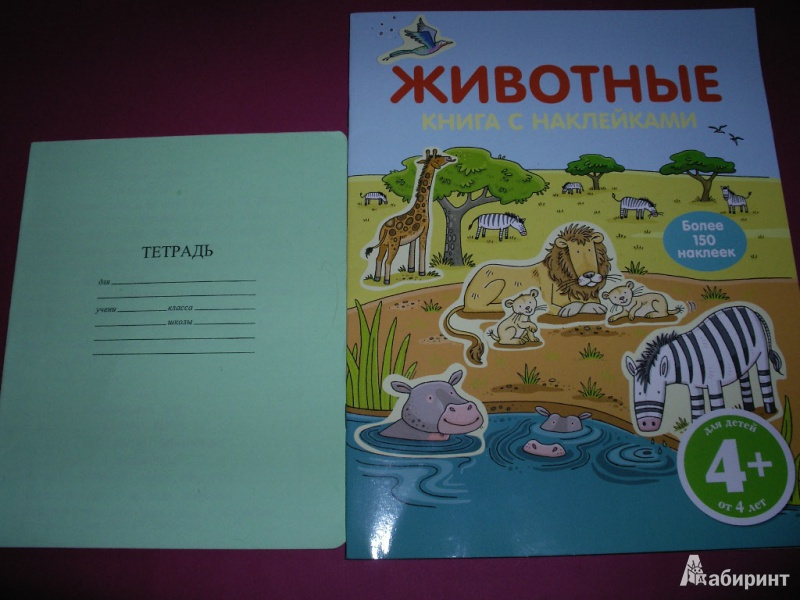 Иллюстрация 1 из 21 для Животные. Книга с наклейками (для детей от 4-х лет) | Лабиринт - книги. Источник: Tiger.