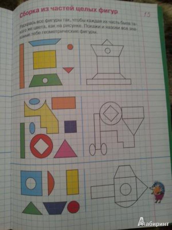 Иллюстрация 9 из 23 для Упражнения и тесты в клеточках. Рабочая тетрадь для детей 5-6 лет - Константин Шевелев   Лабиринт - книги. Источник: Мама, просто мама
