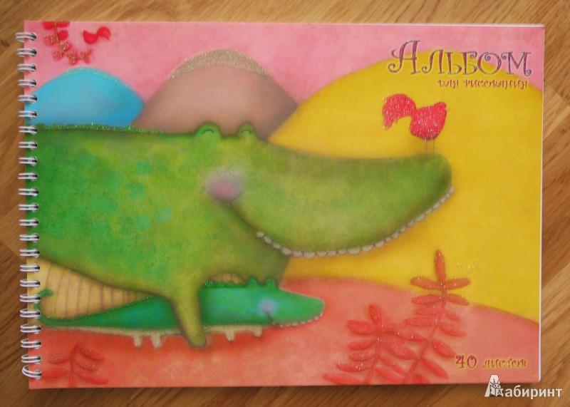 Иллюстрация 1 из 3 для Альбом для рисования. 40 листов. Веселые крокодилы (АСБ40753) | Лабиринт - канцтовы. Источник: innacem