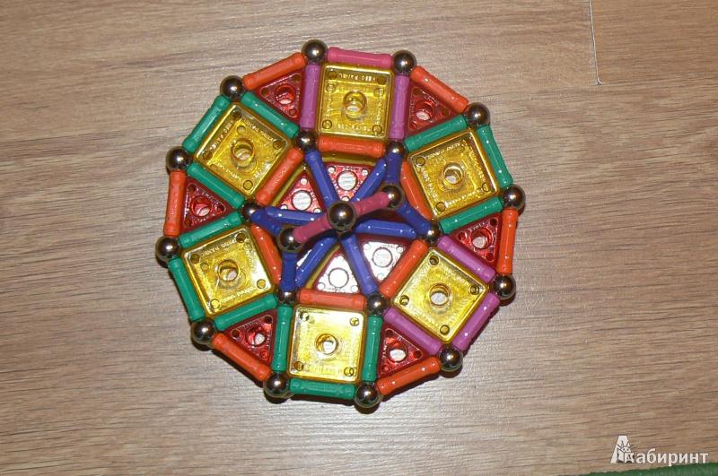 Иллюстрация 1 из 9 для Магн. конструктор в коробке, 220 элементов, 6 типов (1094) | Лабиринт - игрушки. Источник: Попова  Анна