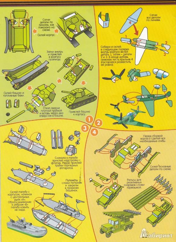 Макеты техники из бумаги своими руками схемы