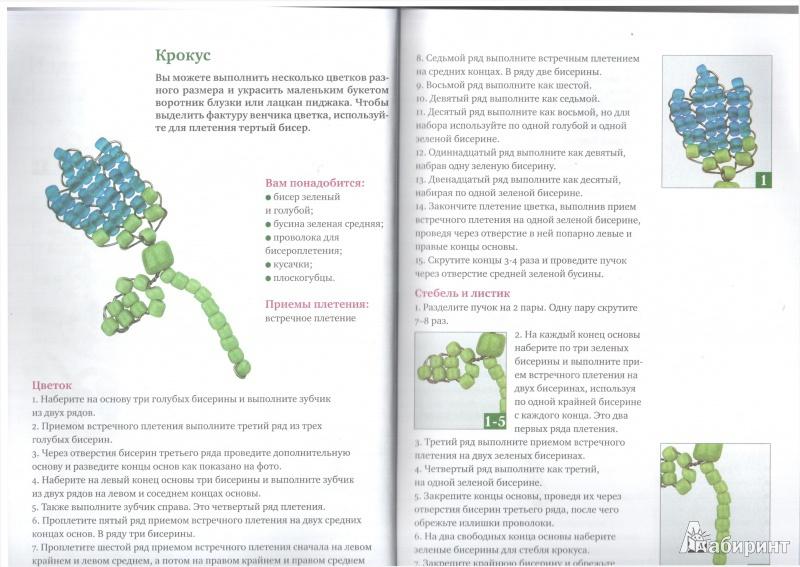 """Иллюстрация 7 к книге  """"Бисероплетение для начинающих мастериц """", фотография, изображение, картинка."""