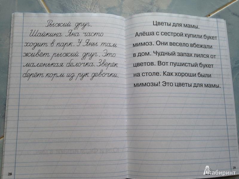 Тренажер По Письму Для Первоклассника