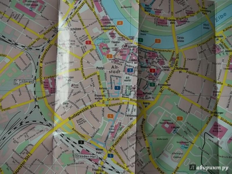 Иллюстрация 1 из 5 для Дрезден. Карта-покет ламинированная 1: 12 500 | Лабиринт - книги. Источник: Соня-А