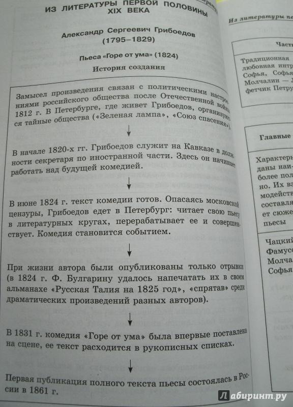 10 для Литература в схемах