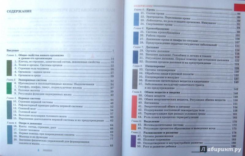 Учебник по биологии 8 класс любимова