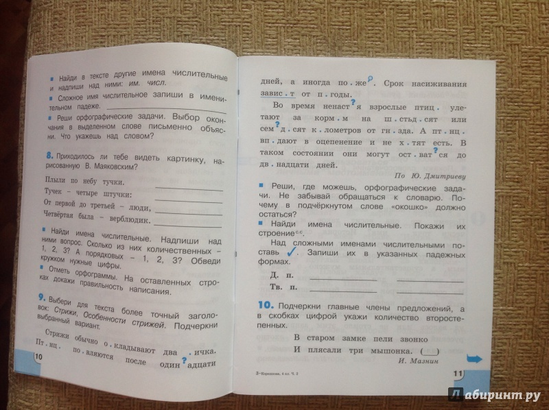Решебник потренируйся гармония русский язык 4 класс