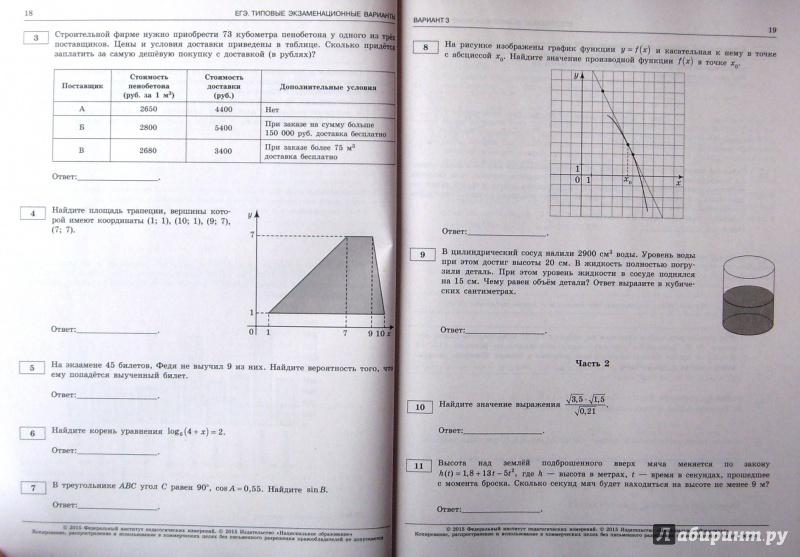 Книга егэ по математике 2015 36 вариантов