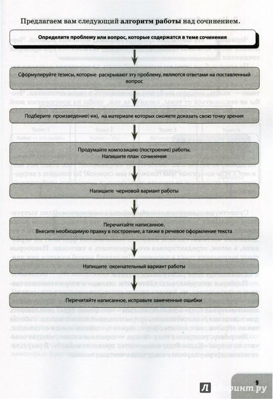 Иллюстрация 1 из 3 для Русский язык. Литература. Итоговое выпускное сочинение в 11 классе - Нарушевич, Нарушевич   Лабиринт - книги. Источник: sergiomio