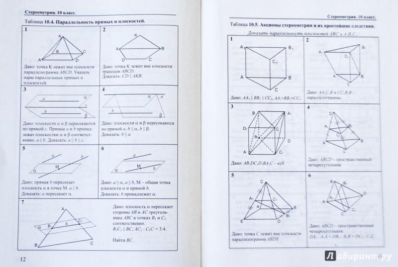 Геометрия рабинович решебник i