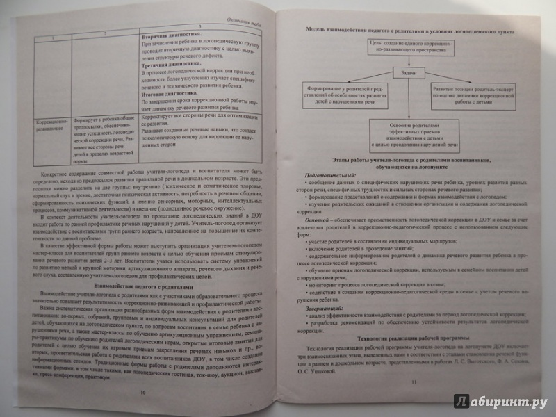 Программа Работы Учителя Логопеда