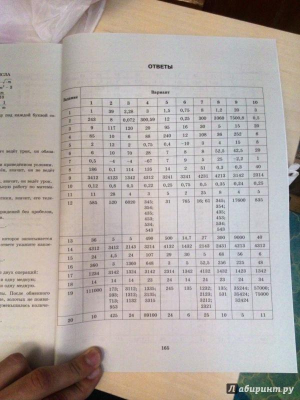 бланки заданий егэ по математике 2016 - фото 9