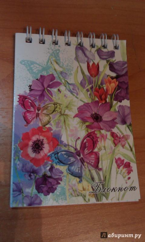"""Иллюстрация 1 из 3 для Блокнот """"Цветочный вальс"""". А7. 40 листов (30114)   Лабиринт - канцтовы. Источник: Nayt"""