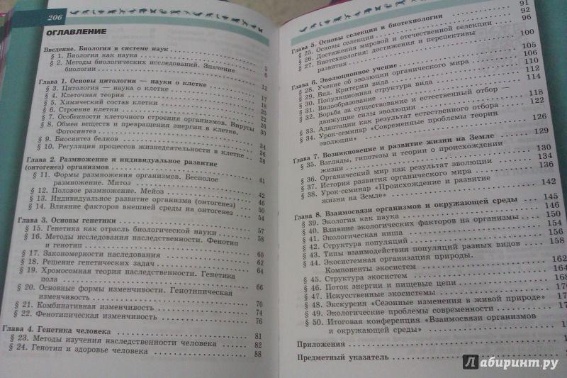 Конспекты по биологии 9 класс каменский