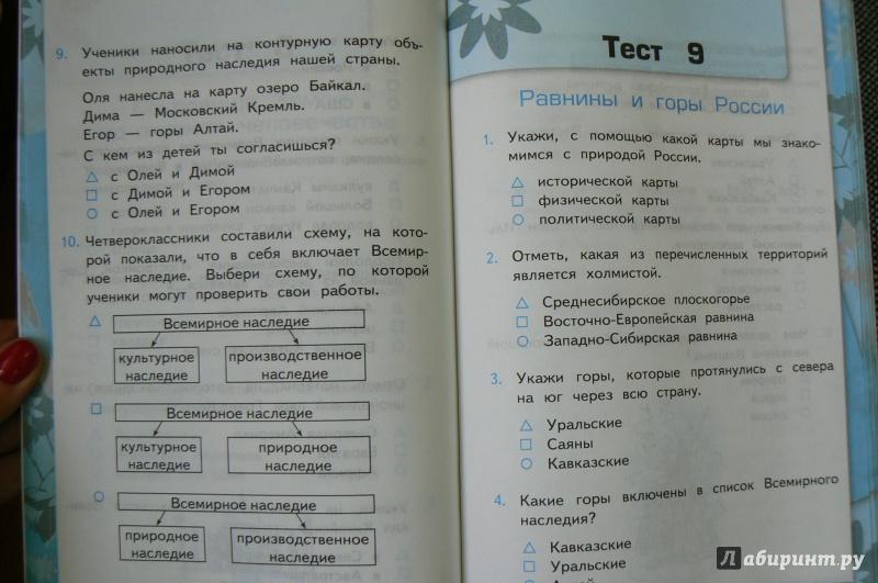 Тесты к учебнику А.А. Плешакова Окружающий мир по программе