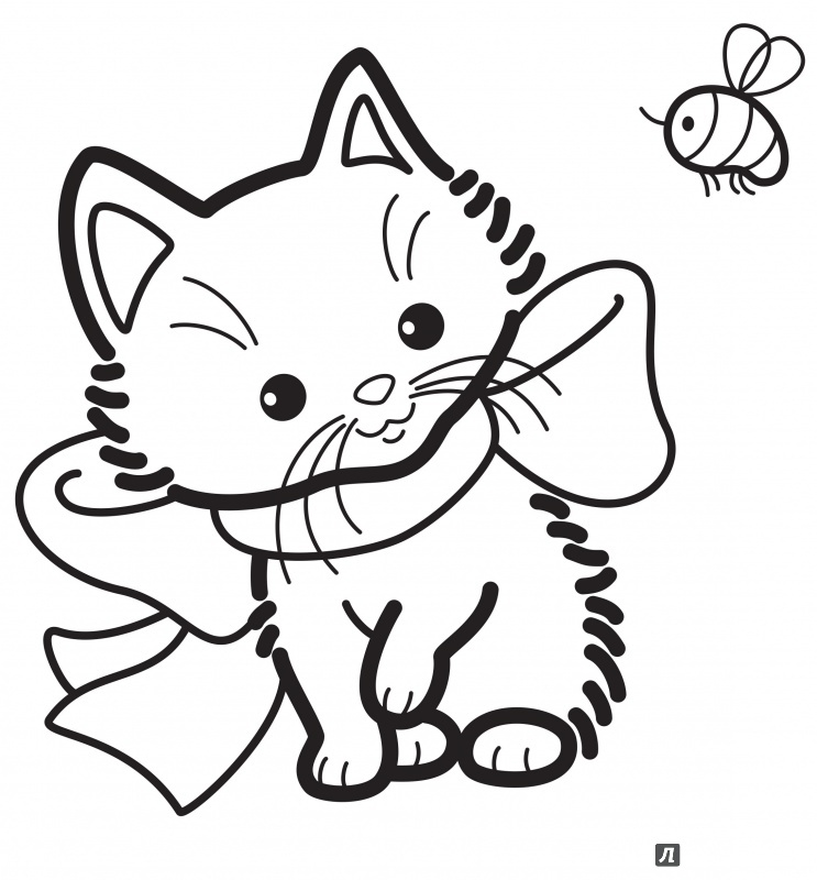 Разукрашенный кот рисунок