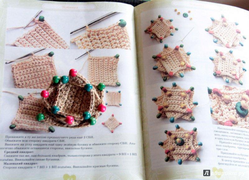 Вязание спицами украшения для изделий