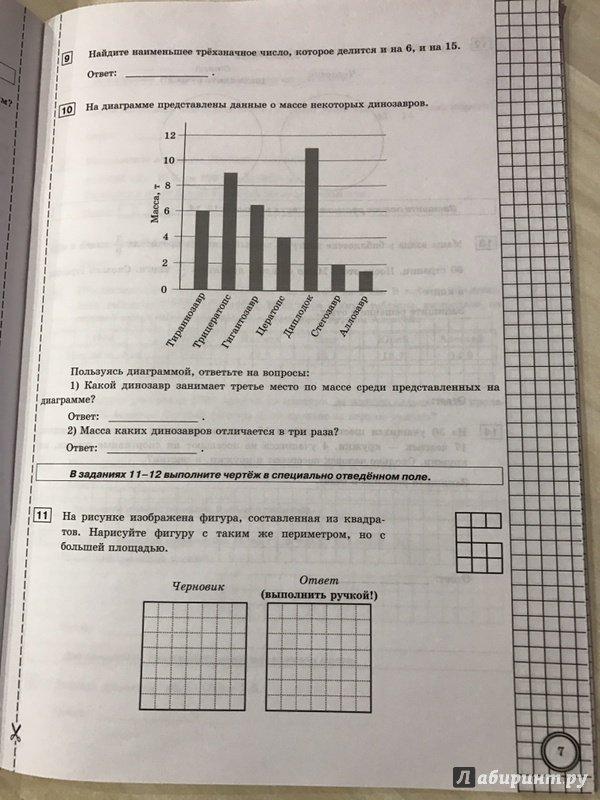 Впр математика 6 класс задания и ответы